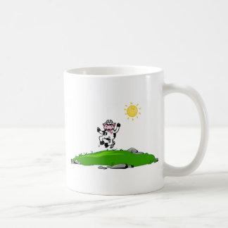 草の喜び牛のための跳躍 コーヒーマグカップ