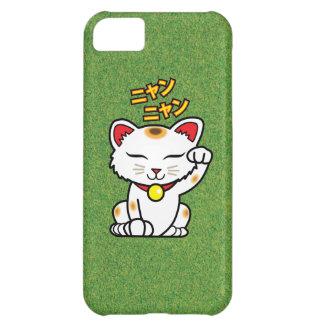 草の日本ので幸運な猫Maneki Neko iPhone5Cケース