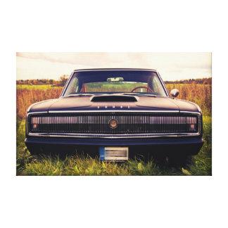 草の無光沢の黒1966のごまかしの充電器 キャンバスプリント