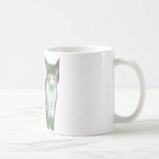 草の白黒猫 コーヒーマグカップ