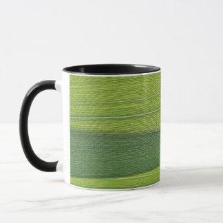 草の葉のマクロ写真 マグカップ