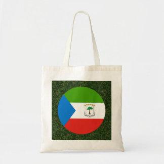 草の赤道ギニアの旗 トートバッグ