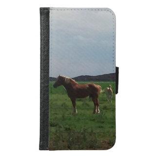 草の馬 GALAXY S6 ウォレットケース