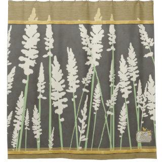 草は灰色のシャワー・カーテン開きます シャワーカーテン