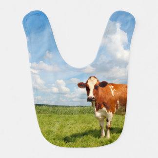 草原に立っている好奇心が強い牛 ベビービブ