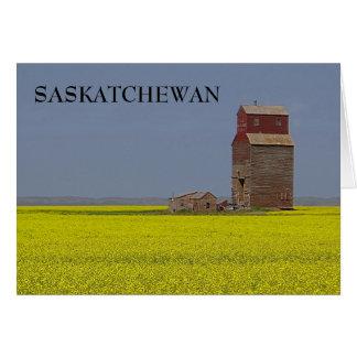 草原のエレベーターの景色 グリーティングカード