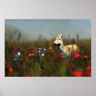 草原のプリントの卵 ポスター
