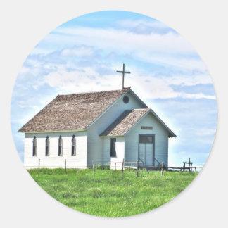 草原の少し教会 ラウンドシール
