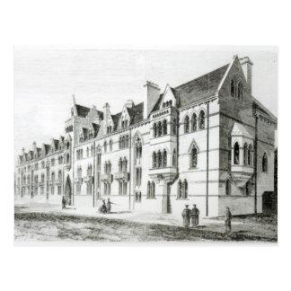草原の建物、キリスト教会、オックスフォード ポストカード