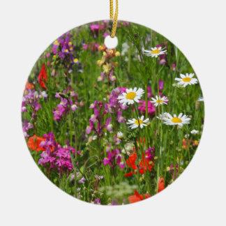草原の花3 セラミックオーナメント