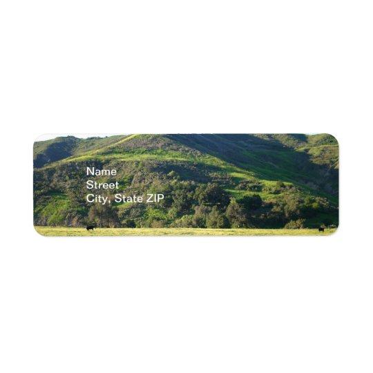 草原の谷 返信用宛名ラベル