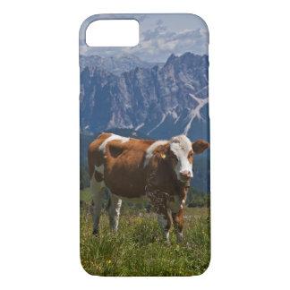 草原のiPhone 7の場合の高山牛 iPhone 8/7ケース