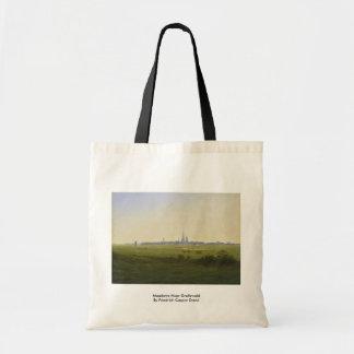 草原はフリートリッヒキャスパーデイヴィッドによってGreifswaldに近づきます トートバッグ