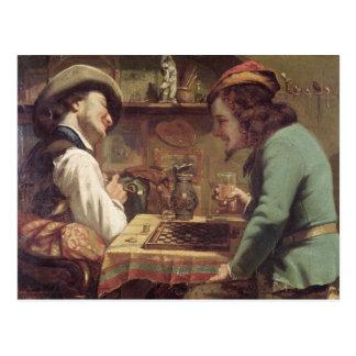 草案のゲーム、1844年 ポストカード