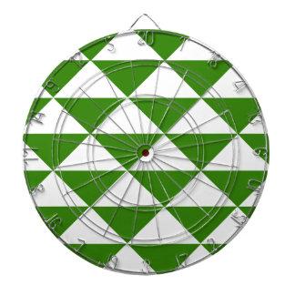 草色および白の三角形 ダーツボード