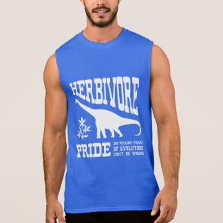 草食動物のプライドの菜食主義の恐竜のシルエット 袖なしシャツ