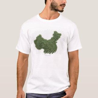 草2から成っている中国大陸の地図 Tシャツ
