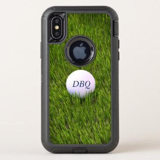 荒いののオッターボックスの擁護者シリーズゴルフ・ボール オッターボックスディフェンダーiPhone X ケース