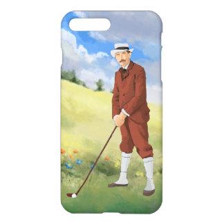 荒いのの手描きのヴィンテージのゴルファー iPhone 8 PLUS/7 PLUSケース