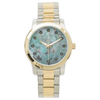 荒いアフリカのエメラルドの腕時計 腕時計