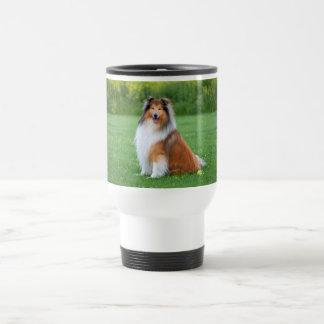 荒いコリー犬の美しい写真のタンブラー、ギフト トラベルマグ