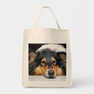 荒いコリー犬鼻の美しい食料雑貨のトートバック トートバッグ