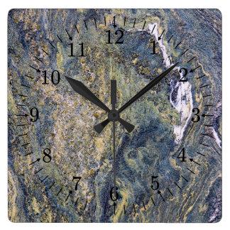 荒い大理石の壁 スクエア壁時計