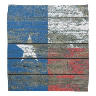 荒い木のテキサス州の旗は効果に乗ります バンダナ