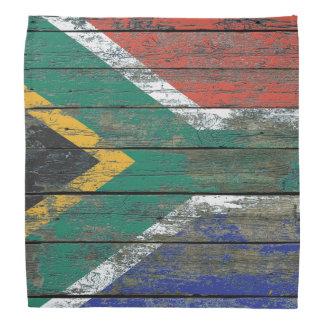 荒い木の南アフリカの旗は効果に乗ります バンダナ