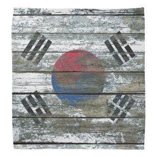 荒い木の韓国の旗は効果に乗ります バンダナ