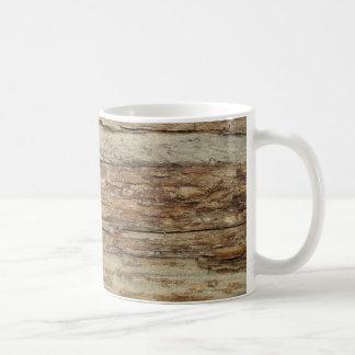 荒い木製の穀物 コーヒーマグカップ