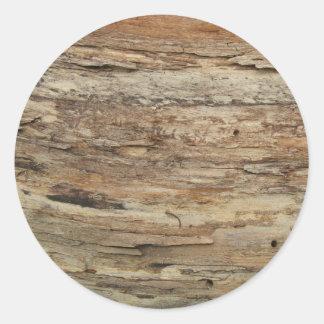 荒い木製の穀物 ラウンドシール