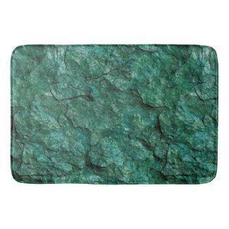 荒い緑の石板の石 バスマット