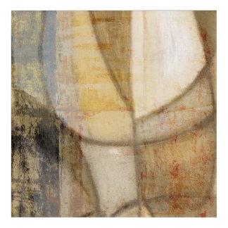 荒い織り目加工の地球の音画 アクリルウォールアート