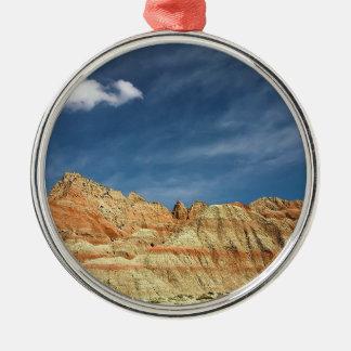 荒地の国立公園砂色の青空 メタルオーナメント
