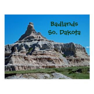 荒地国立公園、サウスダコタ ポストカード