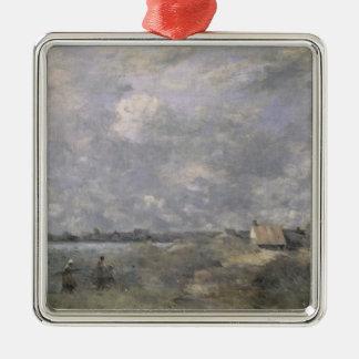 荒天、先deカレー、c.1870 シルバーカラー正方形オーナメント
