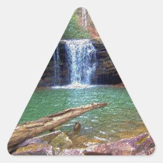 荒野のアパラチア地方住民の滝 三角形シール