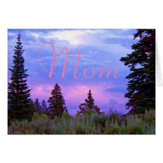 荒野の日没の誕生日 カード