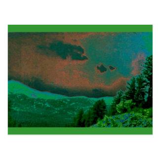 荒野の景色 ポストカード