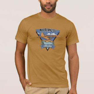 荒野の水上飛行機の冒険アラスカ Tシャツ