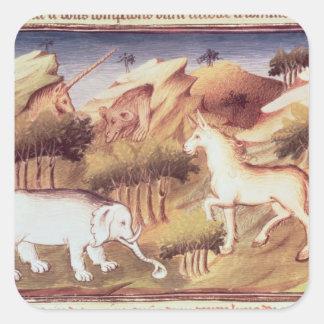 荒野の神話上動物 スクエアシール