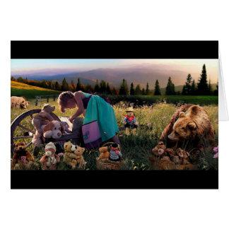 荒野の芸術カードの小さな女の子 カード