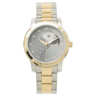 荘厳なアフリカ灰色のオウム 腕時計