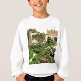 荘厳な、落ち着いたイタリアンなバラ園 スウェットシャツ