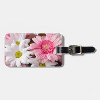 荷物のラベル-デイジーのガーベラの花 ラゲッジタグ