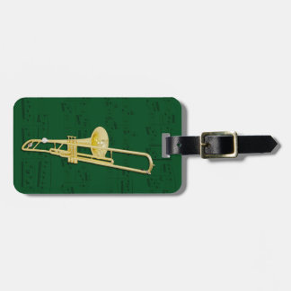 荷物のラベル-トロンボーン(弁) -色を選んで下さい ラゲッジタグ