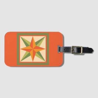 荷物のラベル-斜めの星(オレンジ) ラゲッジタグ