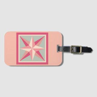 荷物のラベル-斜めの星(ピンク) ラゲッジタグ