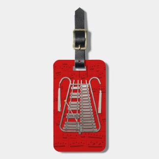 荷物のラベル-行進の鉄琴-色を選んで下さい ラゲッジタグ